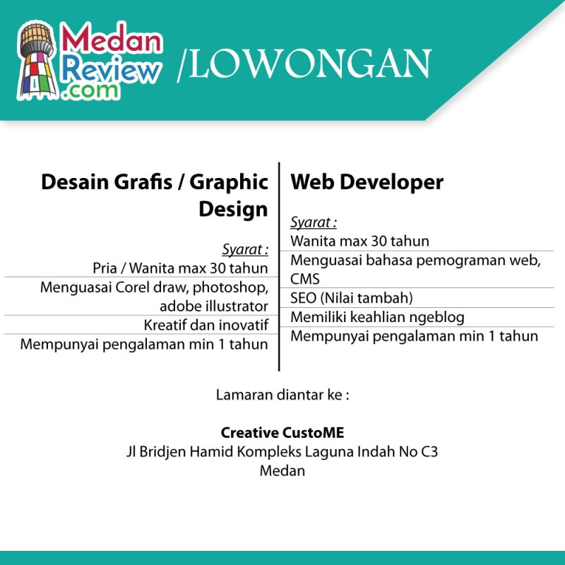 Creative CustoME : Lowongan Graphic Design dan Web Developer