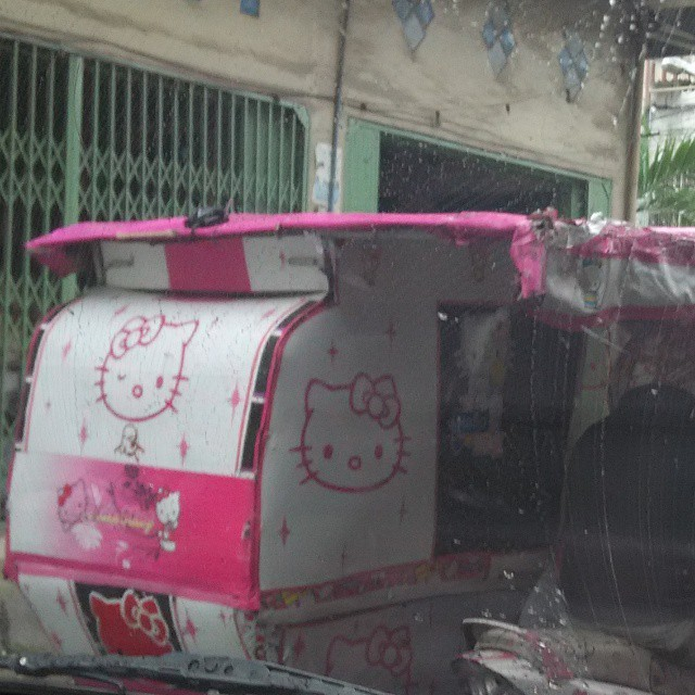Becak Hello Kitty Medan