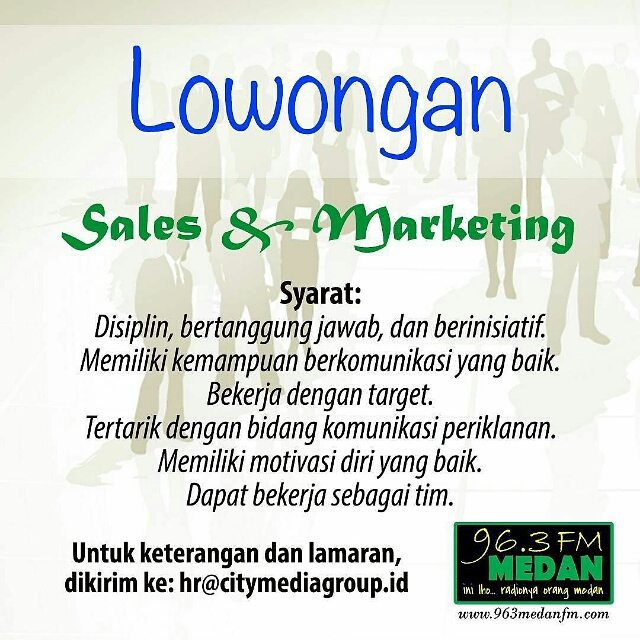 Lowongan kerja di CITY MEDIA GROUP Sales & Marketing