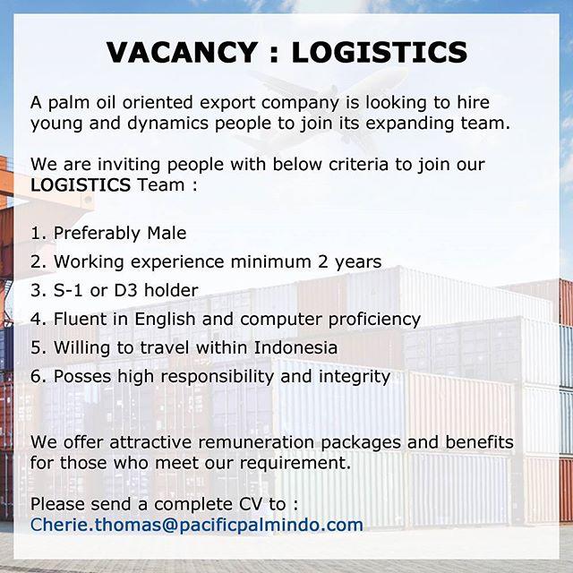 Lowongan Kerja di Bagian Logistics