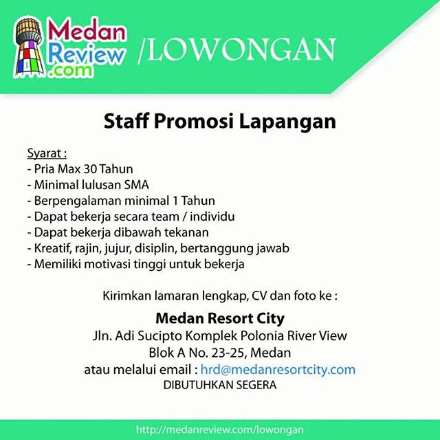 Medan Resort City Membuka Lowongan Kerja Sebagai Staff Promosi Lapangan dan Staff Pajak