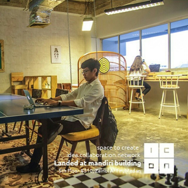 Icon Coworking Space : Idea, Collaboration & Network