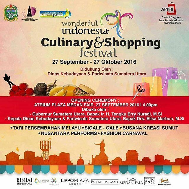 Wonderful Indonesia Culinary & Shopping Festival 2016