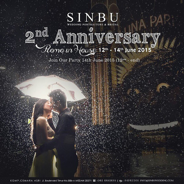 SINBU Wedding Portraiture & Bridal 2nd ANNIVERSARYPROMO IN HOUSE!! 12th-14th June 2015