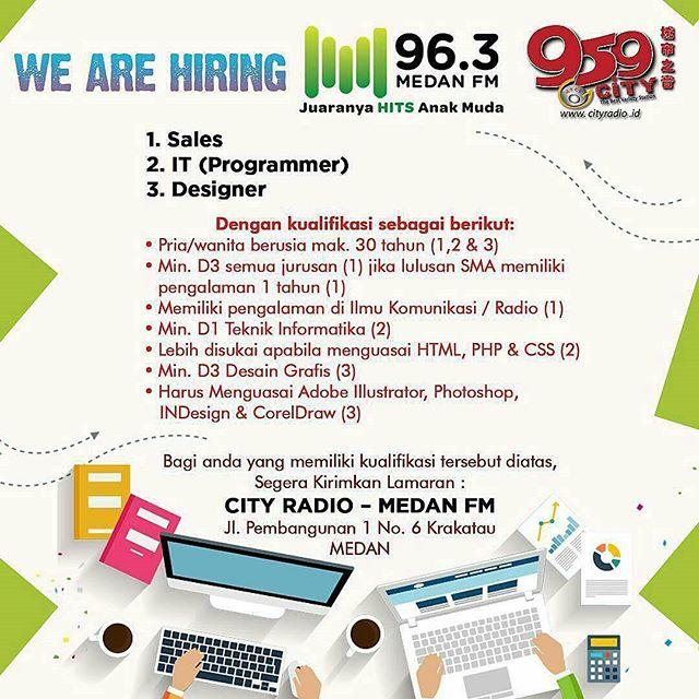 Lowongan Kerja di City Radio dan Medan FM