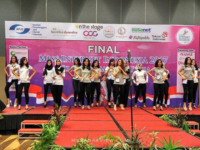 Malam Final Miss Internet Sumatera Utara 2017 di Santika Dyandra Convention Center Medan
