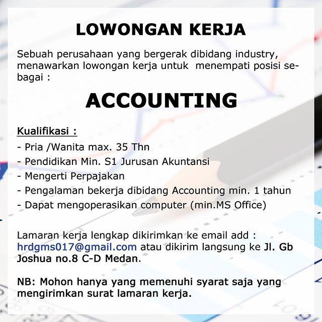 Lowongan Kerja di Bagian Accounting