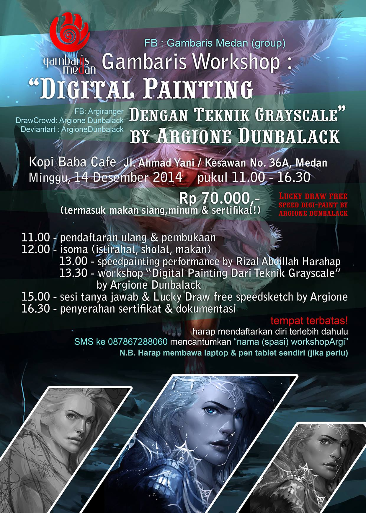 Workshop Digital Painting Dengan Teknik Greyscale