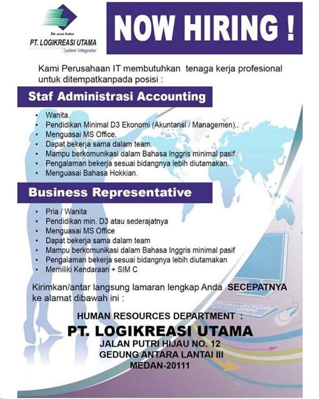 Lowongan Staf Administrasi Accounting Dan Business Representative