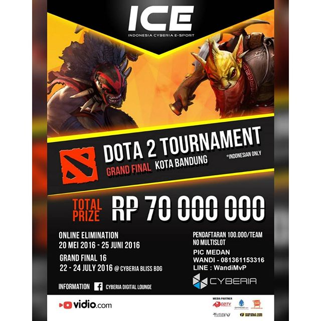 DOTA 2 Indonesia Cyberia E-Sport Tournament 2016