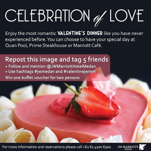 JW Marriot Hotel Medan Valentine Giveaway 2015 : Celebration of Love