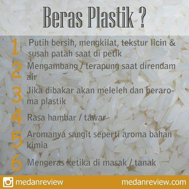 Kenali Ciri-Ciri Beras Plastik