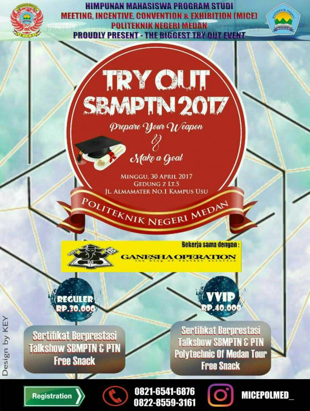 HMPS MICE POLMED TRY OUT SBMPTN 2017