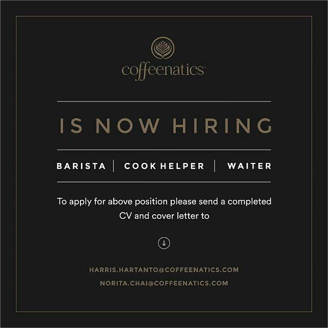 Coffeenatics is hiring