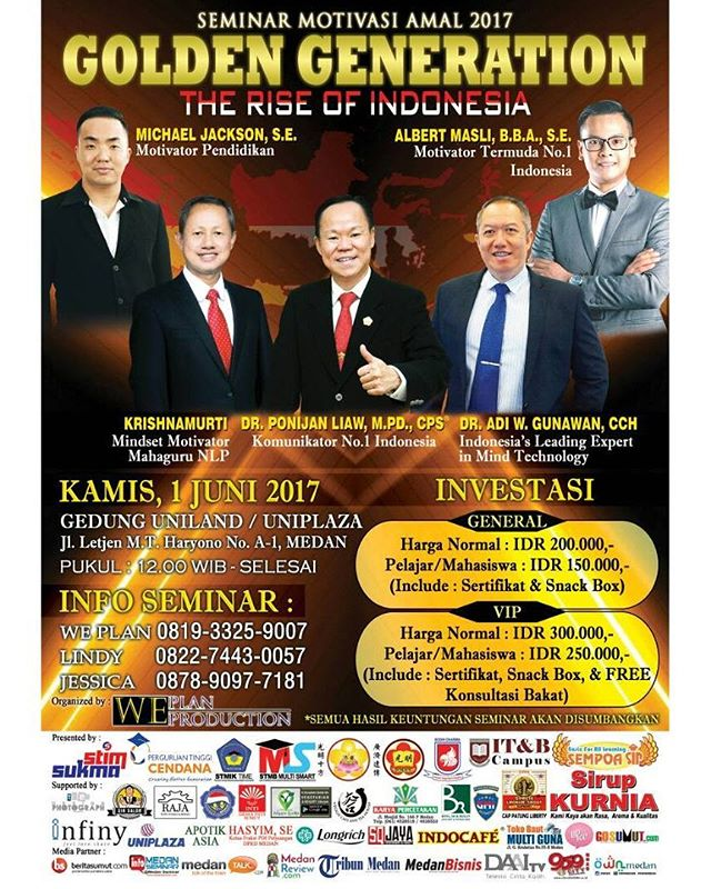 "SEMINAR MOTIVASI AMAL 2017 GOLDEN GENERATION ""The Rise of Indonesia"""