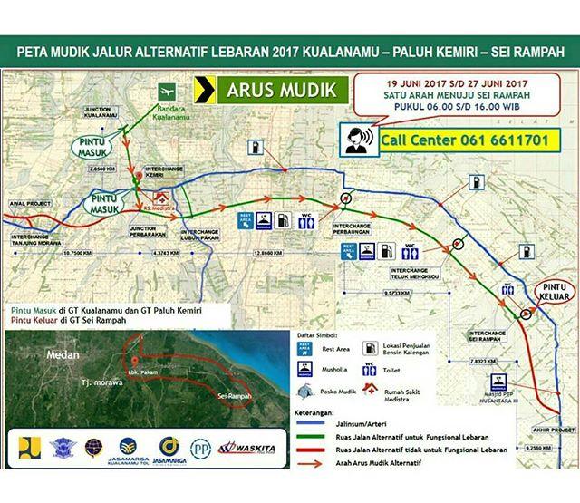 Info Jalur Mudik Lebaran Medan 2017 :  Semakin Banyak Alternatifnya !
