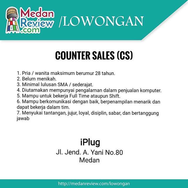 iPlug Medan : Lowongan Kerja Counter Sales