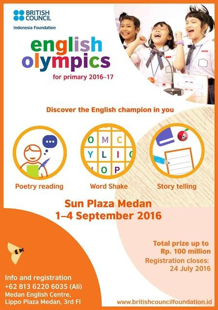 English Olympics for Primary Students 2016