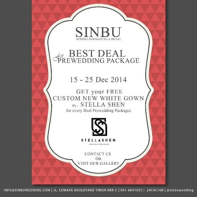 Sinbu Best Deal for Prewedding Package Desember 2014