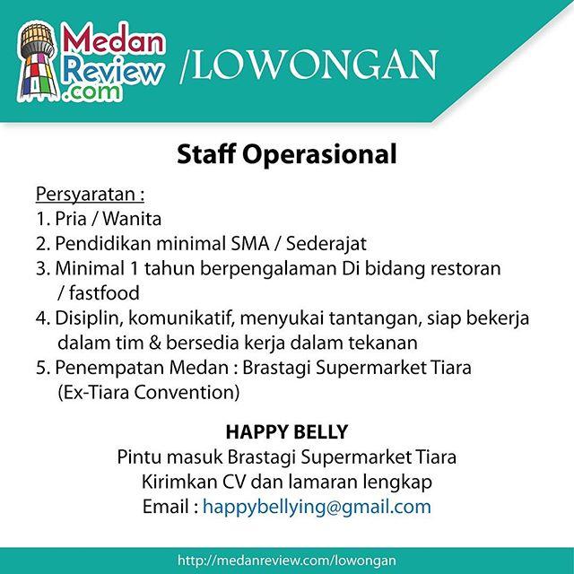 Lowongan Kerja Staff Operasional di Happy Belly