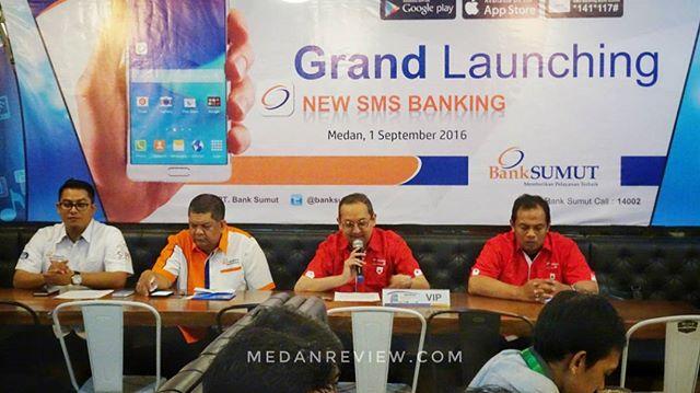 Bank Sumut memperkenalkan layanan New SMS Banking bekerjasama dengan Telkomsel