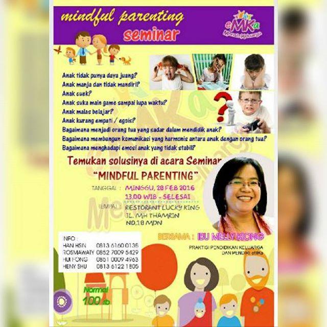Mindful Parenting Kini Hadir di Kota Medan