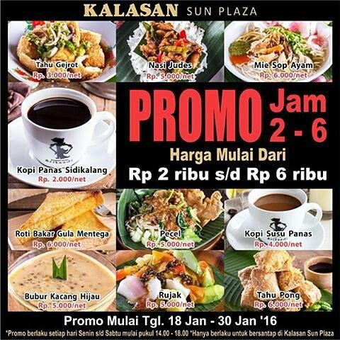 Promo Kalasan Sun Plaza Medan 18 Jan - 30 Jan 2016