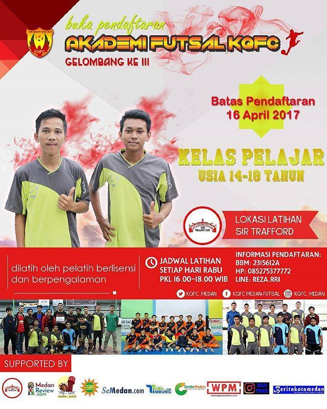 Akademi Futsal KQfc Medan Buka Pendaftaran Gelombang III