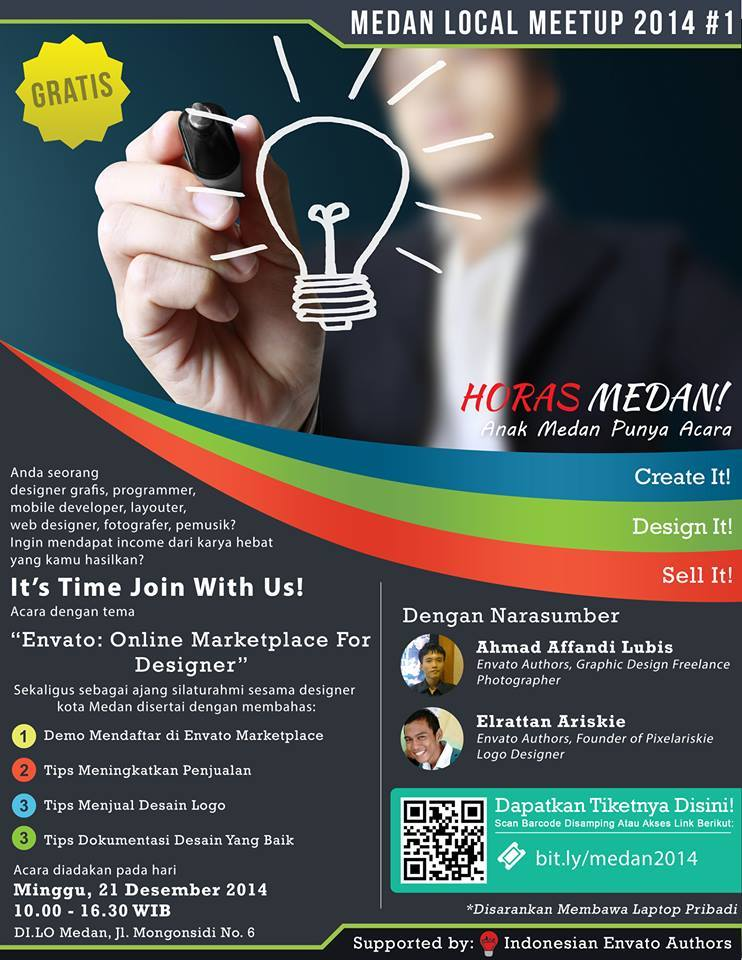 [Medan Local Meetup 2014 #1] Envato : Online Marketplace for Designer