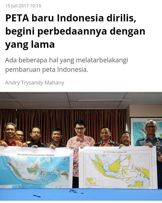Peta Baru Indonesia Dirilis